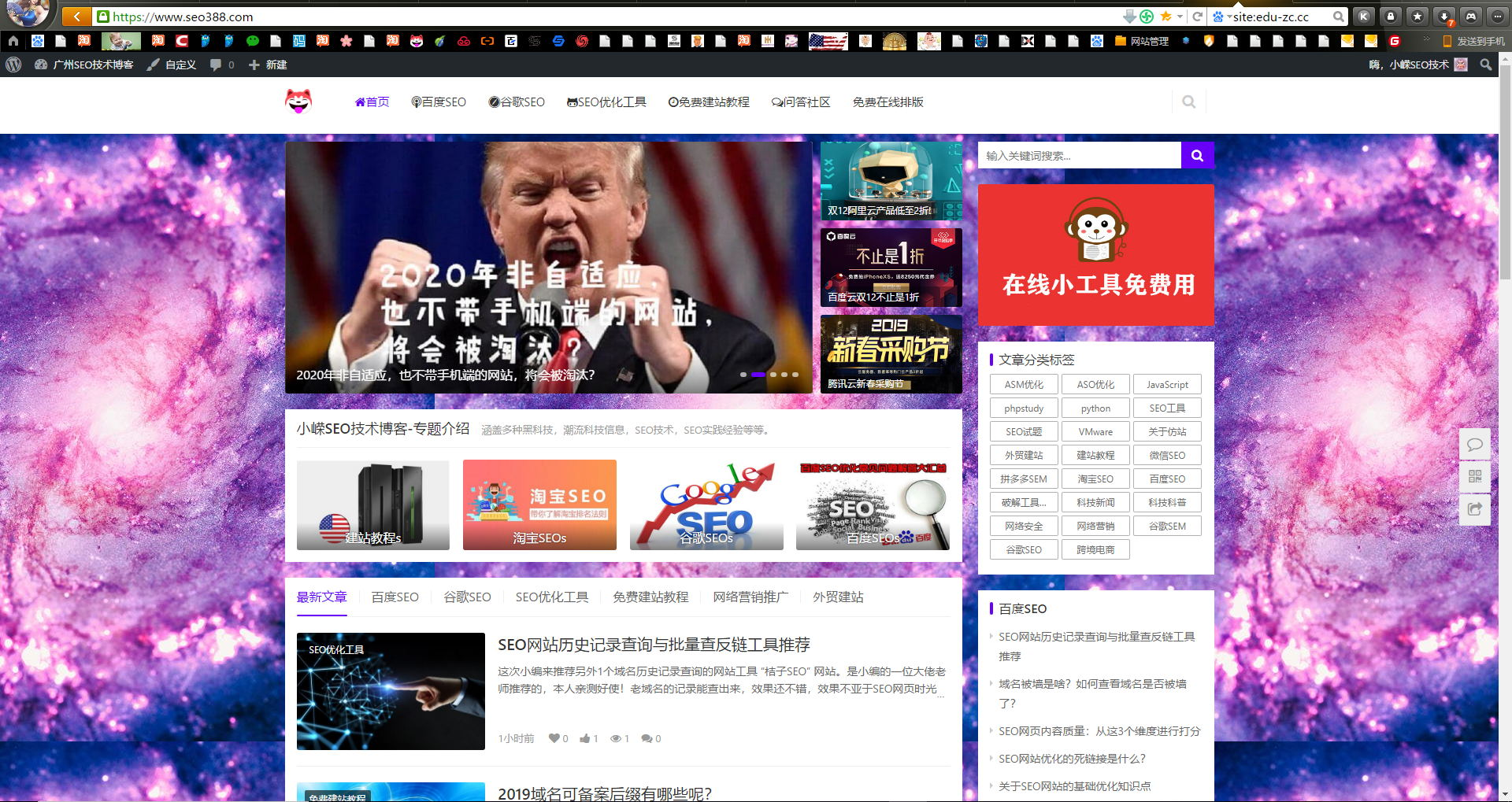 seo博客网站出售